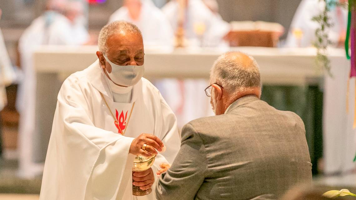'I'm not going to veer from that': Cardinal-elect Gregory, like predecessor, will not deny Biden the Eucharist